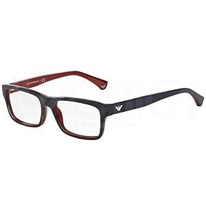 Emporio Armani EA 3050 Men's Eyeglasses Blue Gradient Red On Red 55
