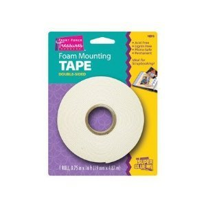 Foam Mounting Tape Double Sided 1 roll 0.75 in x 10 - Foam Cut Mounting Pre