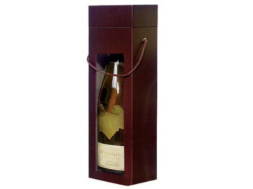 Pack of 3, Large Chocolate Gourmet Window 2 Pc. Box 3.5 x 3.5 x 13'' Perfect Size for Wine or Olive Oil Bottle