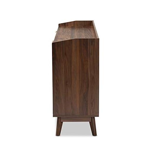 Bedroom Baxton Studio Lena Mid-Century Modern Walnut Brown Finished 6-Drawer Wood Dresser