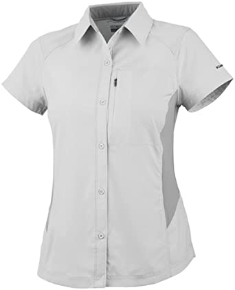 Columbia Island Press - Camisa de Senderismo para Mujer, tamaño XXL, Color Blanco: Amazon.es: Ropa y accesorios