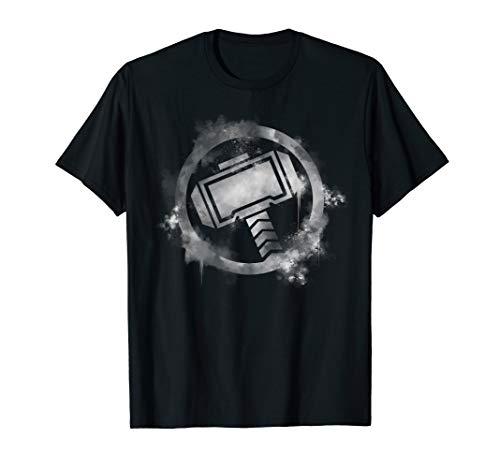 b279a3c99 Marvel Avengers Endgame Thor Spray Paint Logo T-Shirt