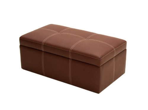 DHP Delaney Large Rectangular Ottoman -Brown
