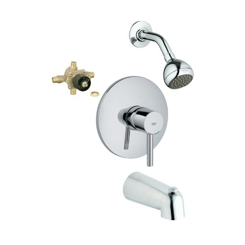 Grohe KTS19347-35015R-000 Essence Tub and Shower Valve Kit, Chrome