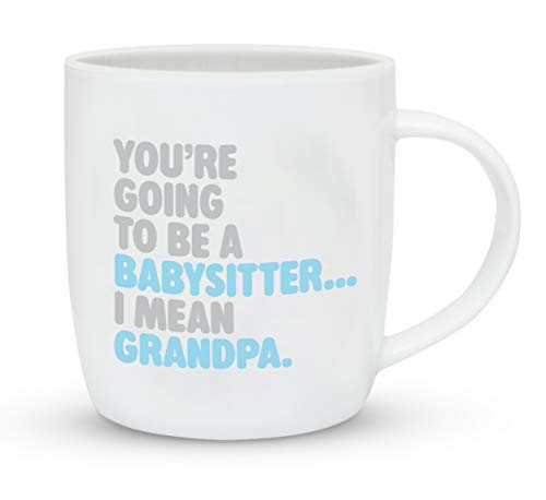 Gifffted Youre Going to Be Babysitter, Best Grandpa Mug Gifts for Father, New Born Grandad Announcement, First Time Grandpa, Funny Fathers Day Mugs Dad, Become Grandad Gifts, Christmas, 13 Oz Cup