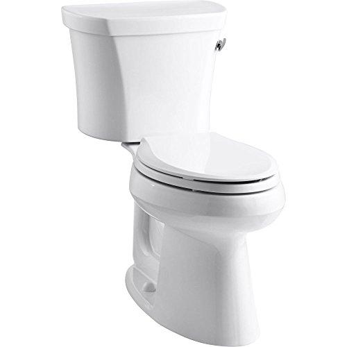 Lever Rough (Kohler K-3949-RA-0 Highline Comfort Height 1.28 gpf Toilet, 14-inch Rough-In, Right-Hand Trip Lever, White)