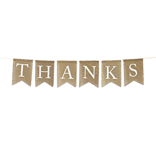 lap Fabric Pennant Hanging Banner Thank You, Pre-Strung, No Assembly Required, 1-Set ()