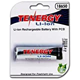 Tenergy Li-ion 18650 3.7V 2600mAh Rechargeable Batteries (Button Top) w/ PCB - Retail Card