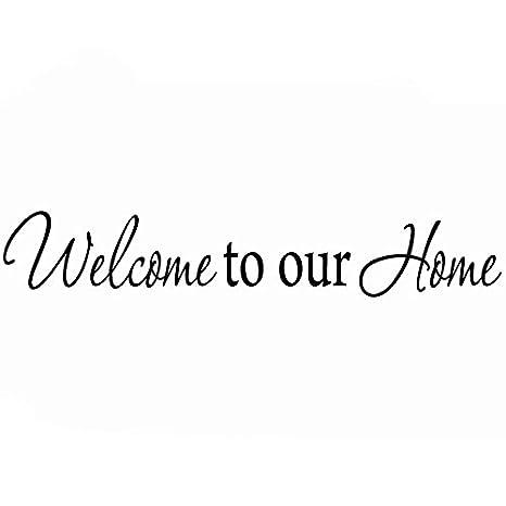 Amazon.com: Bienvenido a nuestro hogar, familia calcomanía ...