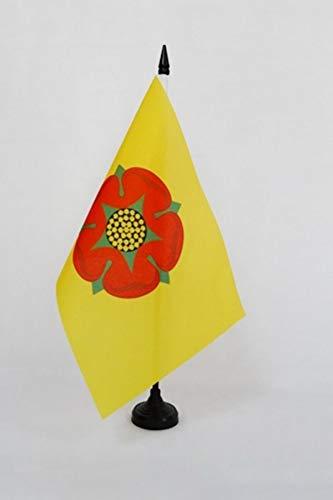 Black Plastic Stick and Base Drapeau Comt/é de Lancashire AZ FLAG Lancashire New County Table Flag 5 x 8 England Desk Flag 21 x 14 cm County of Lancashire