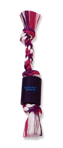 Flossy Chews Squeaky Rope, Vinyl, Mini, 9-Inch, My Pet Supplies