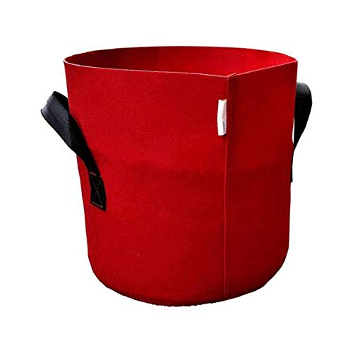 Bootstrap Farmer Grow Bags 7 Gallon, Red 10 Pack, Colored Fabric Pot for Peppers, Potatoes, Tomatoes and Plants (Best Red Potatoes To Grow)