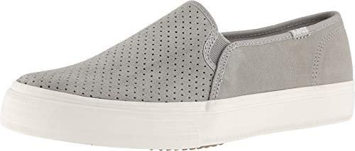 Decker Shaft - Keds Women's Double Decker Suede Sneaker, Drizzle Grey, 8.5 Wide