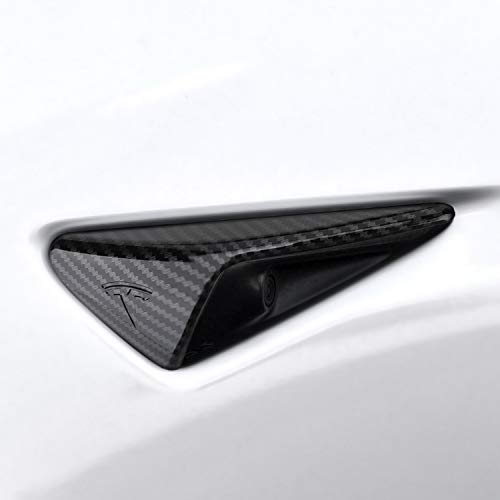 BASENOR Tesla Model 3 Turn Signal Indicator Cover Autopilot 2 ABS Plastic Carbon Fiber ()