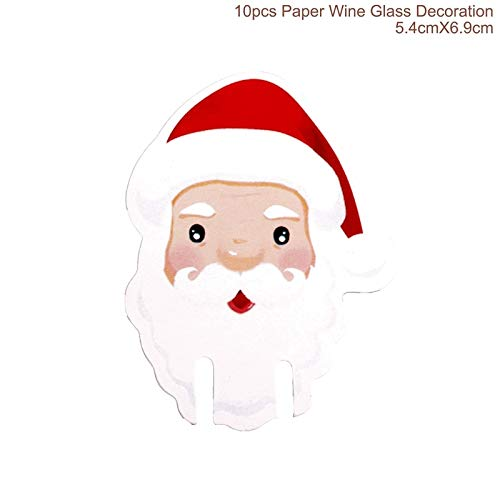 Christmas Wine Bottle Cover Table Decoration Christmas Gift Christmas Hats Cap Santa Claus Bottle Cover Xmas Party Gift