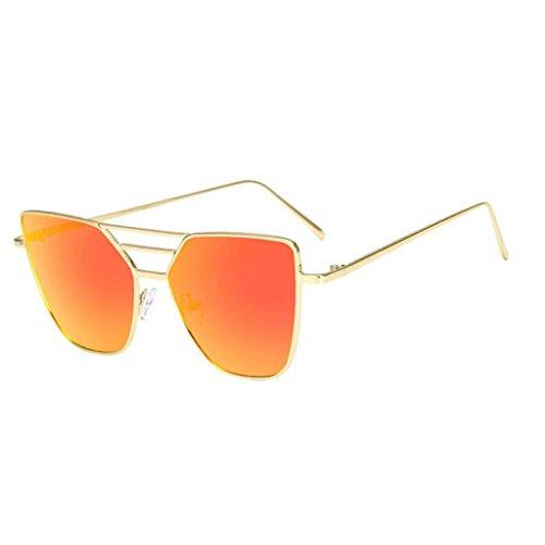 OverDose, Unisex Lunettes De Soleil Aviateur à Verres TeintéS Et Monture En MéTal Avec DéCoupe Irregular Sunglasses (Violet)