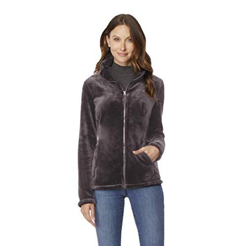 - Womens Luxe Faux Fur Jacket, Shadow, XSmall