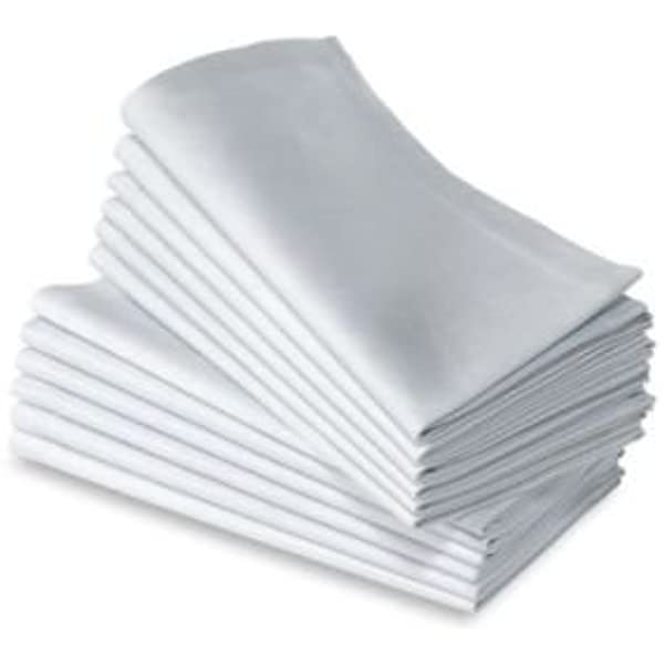 Luxus blancas de servilletas de tela (4 pcs), SP, 51 * 51 cm: Amazon.es: Hogar