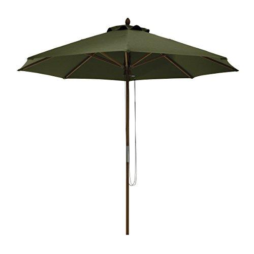 Classic Accessories Montlake FadeSafe 9-Foot Round Bamboo Patio Umbrella, Heather Fern