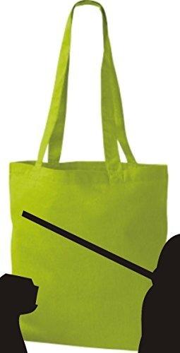 Shirtinstyle - Bolso de tela de algodón para mujer - amarillo lima