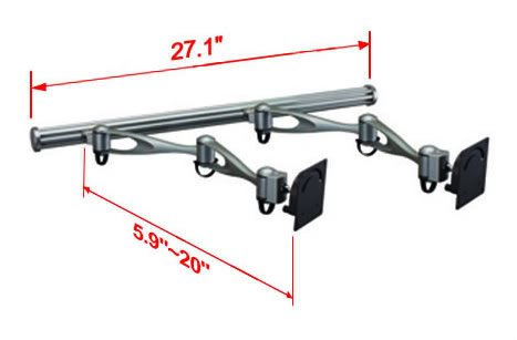 Cotytech Double Arm Wall Mount for Two Monitors (HMW-21A2) by Cotytech (Image #2)