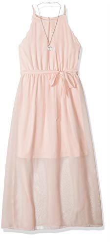 Amy Byer Girls' Big Scalloped Maxi Dress, Blush 10 ()