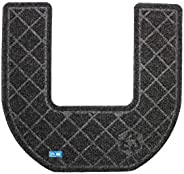 CleanShield Antimicrobial Non-Slip 30-Day Disposable Commode Mat by M+A Matting (Charcoal, Case of 6)