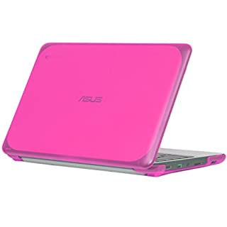 """mCover iPearl Hard Shell Case for 11.6"""" ASUS Chromebook C202SA Series Laptop - Pink"""