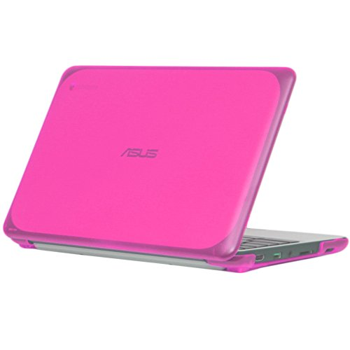 iPearl-mCover-Hard-Shell-Case-for-116-ASUS-Chromebook-C202SA-series-laptop---Pink