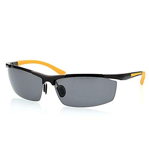 hombres mens giallo de de polarizadas en aleación Colore TIANLIANG04 aluminio Gafas guía UV400 rojo Moda magnesio de gafas de protección dRSPqHwx