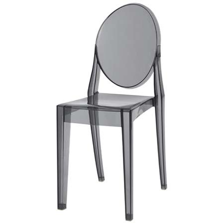 Victoria Ghost Chair (Set Of 2) Smoke Grey