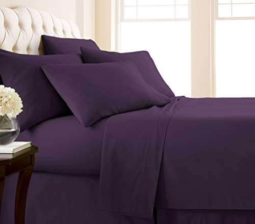 21 Inch Extra Wide Plum - Southshore Fine Living, Inc. Vilano Springs - Premium Collection 6-Piece, 21 Inch Extra-Deep Pocket Sheet Sets, Purple, King