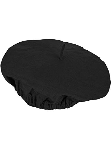 Adults Suave Black French Mime Artist Beret Hat Costume -