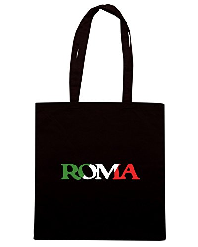 T-Shirtshock - Bolsa para la compra TSTEM0199 roma vintage italian pride black Negro
