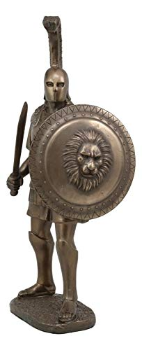 ShopForAllYou Figurines and Statues Alexander The Great with Shield and Sword Statue King Emperor Conqueror Warrior