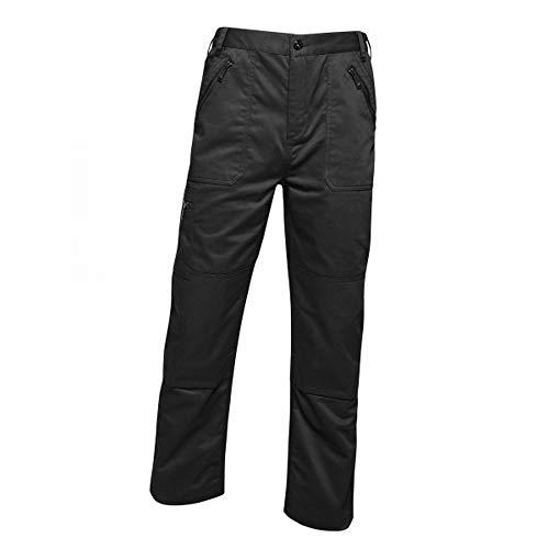 Regatta Mens Pro Action Waterproof Trousers - Long (34in) (32in) (Traffic Black)