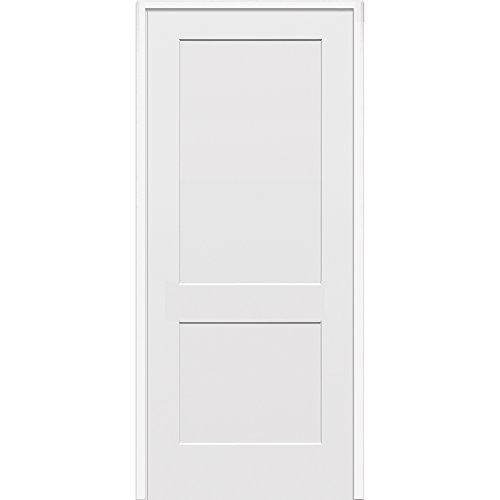 - National Door Company ZZ364469R Solid Core, Molded, Craftsman 2-Panel Flat, Right Hand, Prehung Interior Door, 30
