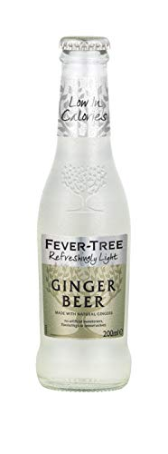 Fever-Tree Refreshingly Light Ginger Beer, 6.8 Fl Oz Glass Bottle (24Count)