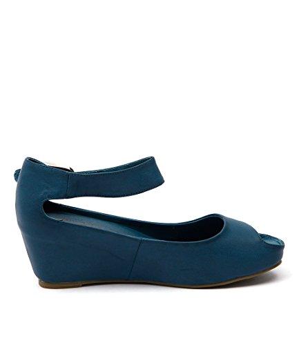 TINDOL Wedges Summer Blue LOVE Heels BILLY Medium Smooth Womens Shoes I OEz0xO8