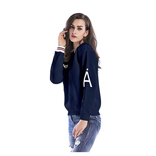 Lunghe Donna In Vita A Da Maniche Plus Blue Casual Velluto Cucitura New Girocollo Bassa Con Pullover Simple Righe qgfaxnFw7t