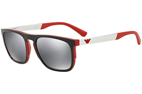 Emporio Armani EA4114 56726G Matte Red EA4114 Square Sunglasses Lens Category ()