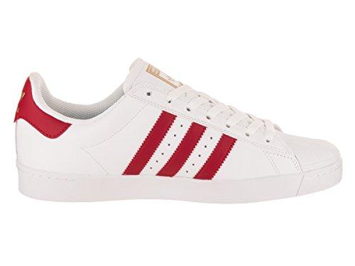 adidas Originals Herren Superstar Vulc ADV Schuhe Ftwht / Scarle / Goldm