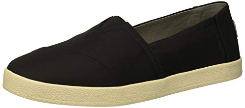 TOMS Women's Avalon Loafer Flat, Black Textured Nylon, 9 Medium US