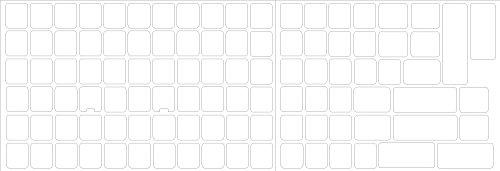 4Keyboard Blank Keyboard Sticker White Background for Desktop, Laptop and Notebook