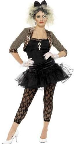 Ladies 1980s 80s Wild Child Madonna Punk Pop Icon Celebrity Fancy Dress Costume Outfit (UK 16-18) -
