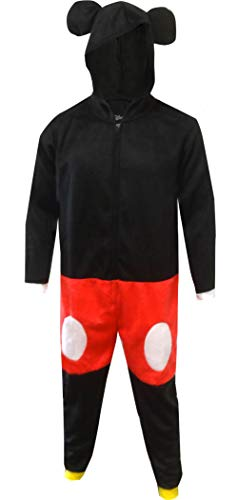 Mickey Costume Adult (Disney Mickey Mouse Dress Like Mickey One Piece Pajama for Men)