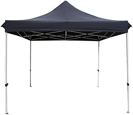 Hosa - Carpa Plegable Reforzada 3 x 3 m Negra - Cenador Gazebo para Patio, Playa y Jardín Ideal para Camping, Feria, Eventos o Mercadillo.: Amazon.es: Deportes y aire libre