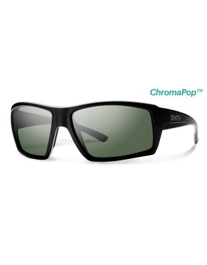 Smith Optics Adult Challis Lifestyle Polarized Sunglasses Matte Black/Gray Green (Smith Sonnenbrillen Pivlock)