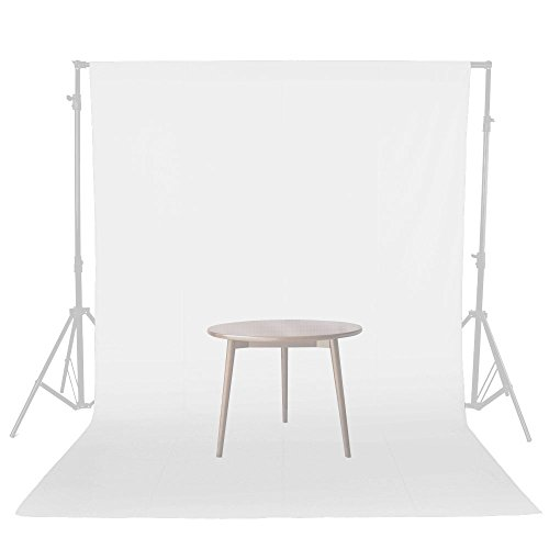 UTEBIT Backdrops White Muslin Photo Props 6×9 FT / 1.8×2. 8M 0.8kg Weight Thickened Camera Backdrop Photo Booth Video Film Photography Background