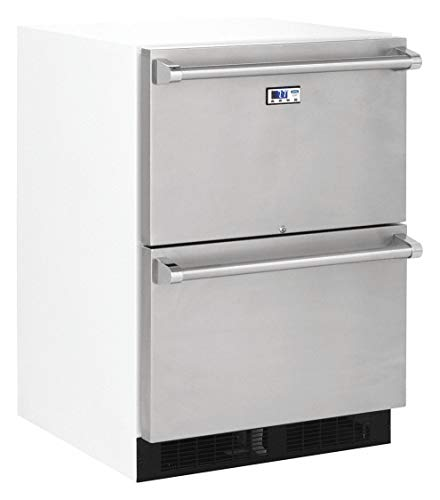 - Drawer Refrigerator, Commercial, White, 23-7/8